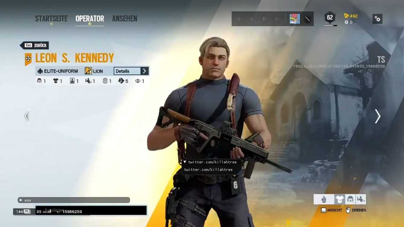 Rainbow Six Siege: un leak suggerisce l'arrivo di Leon Kennedy
