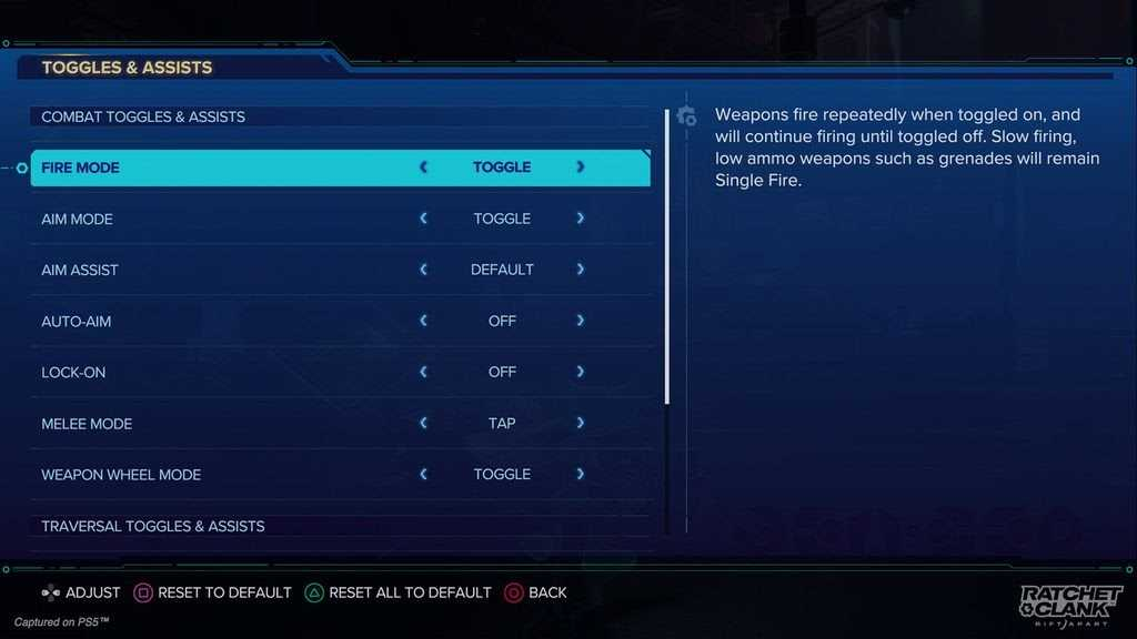 Ratchet & Clank: Rift Apart shows us the accessibility options