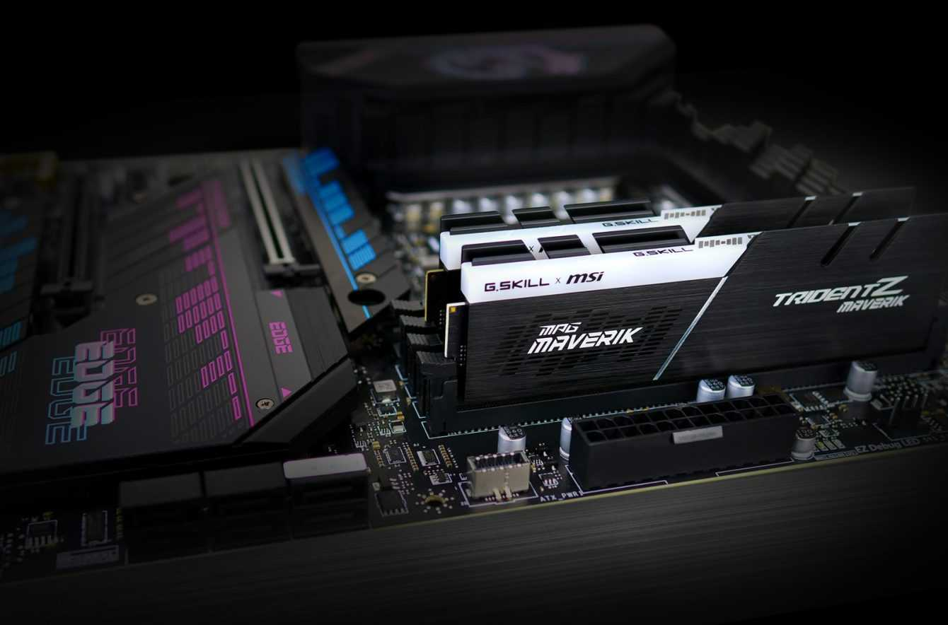 G.SKILL Trident Z Maverik: the kit featuring with MSI