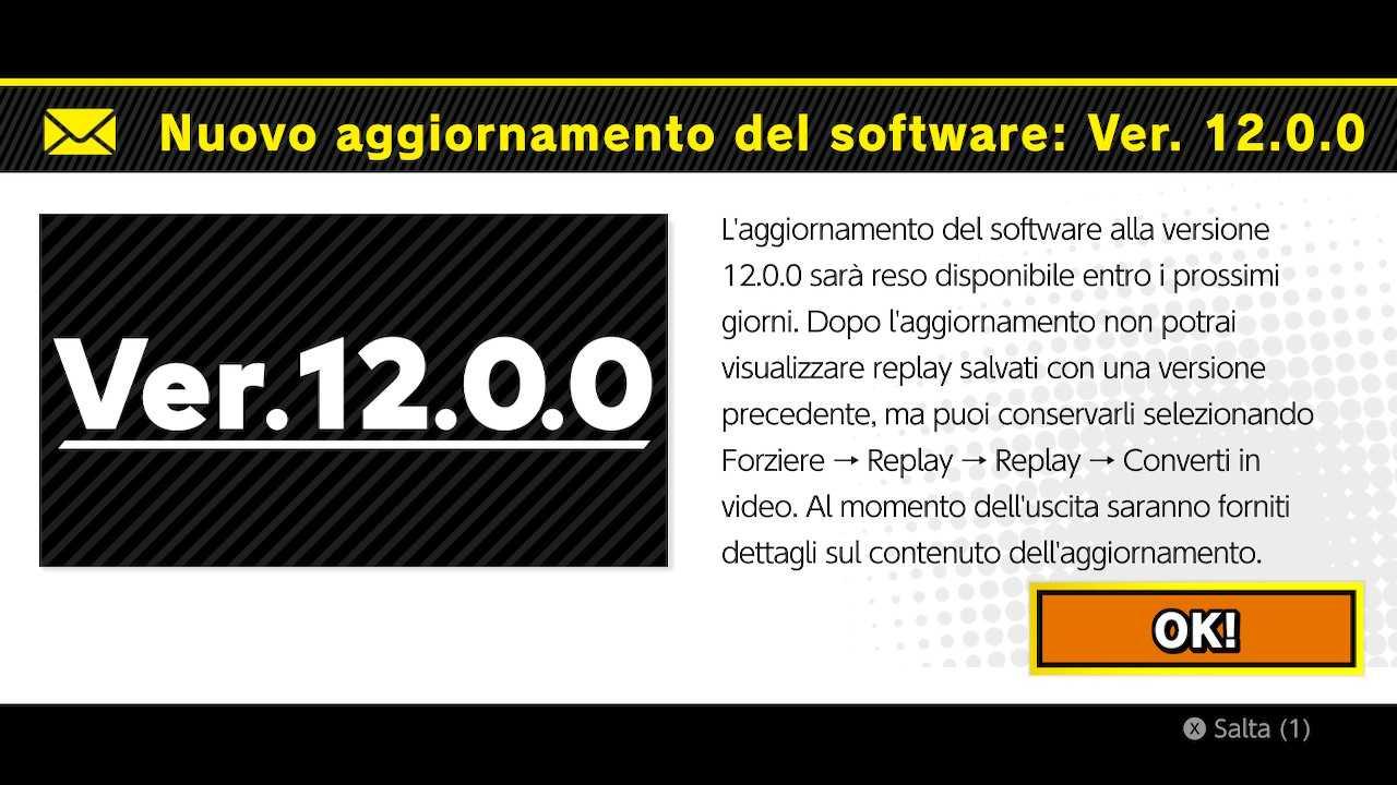 Super Smash Bros. Ultimate: aggiornamento 12.0.0 in arrivo a breve