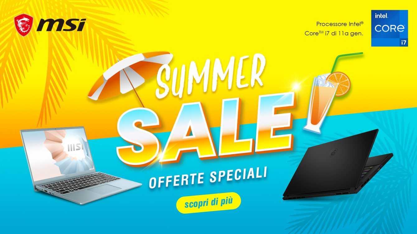 MSI Summer Sale: sconti fino a 600 euro sui notebook