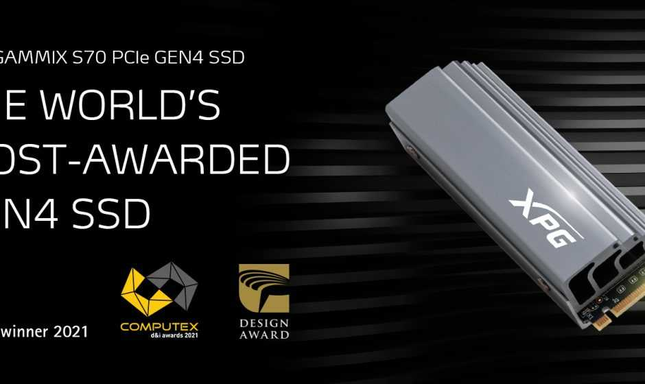 XPG: Il Gammix S70 vince il premio COMPUTEX d&i 2021