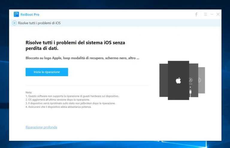Tenorshare ReiBoot: ripristinare un dispositivo iOS in un click!