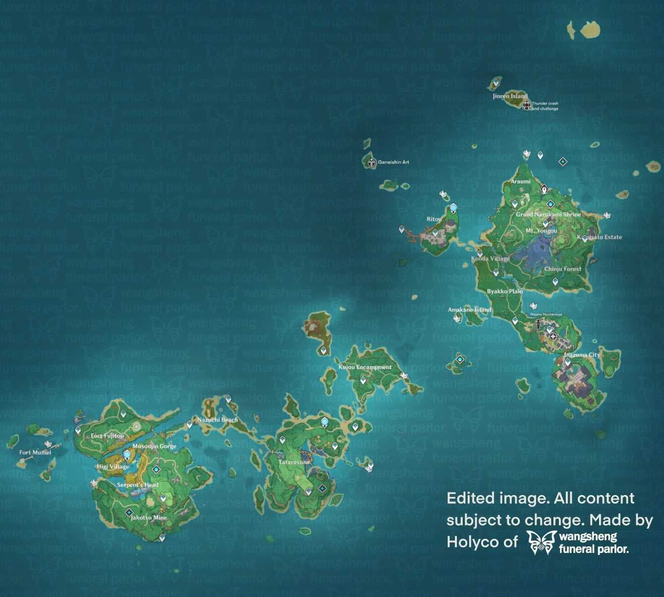 Genshin Impact: a new leak reveals the Inazuma region