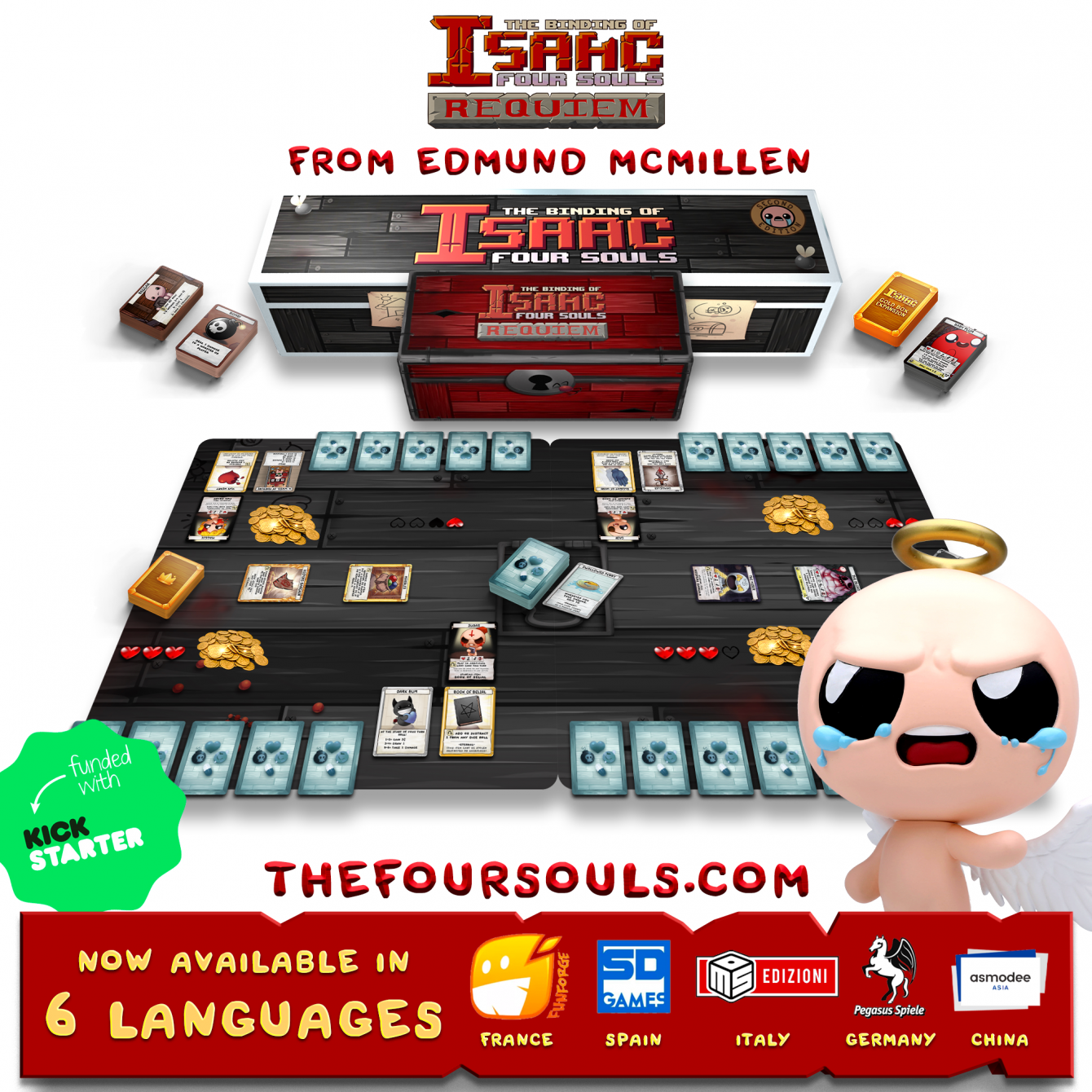 The Binding of Isaac: the board game arrives in Italian language!