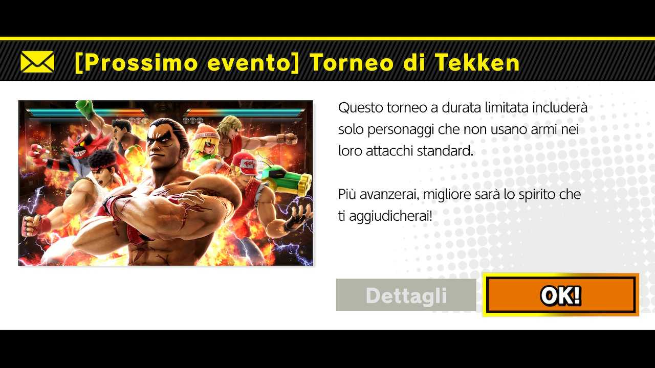 Super Smash Bros. Ultimate: torneo online di Tekken