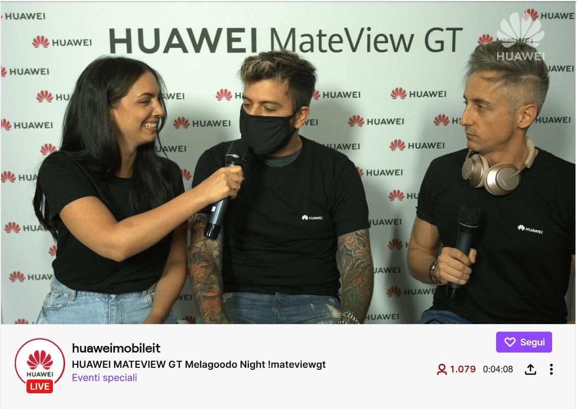 "HUAWEI MateView GT: la ""Melagoodo"" night su Twitch"