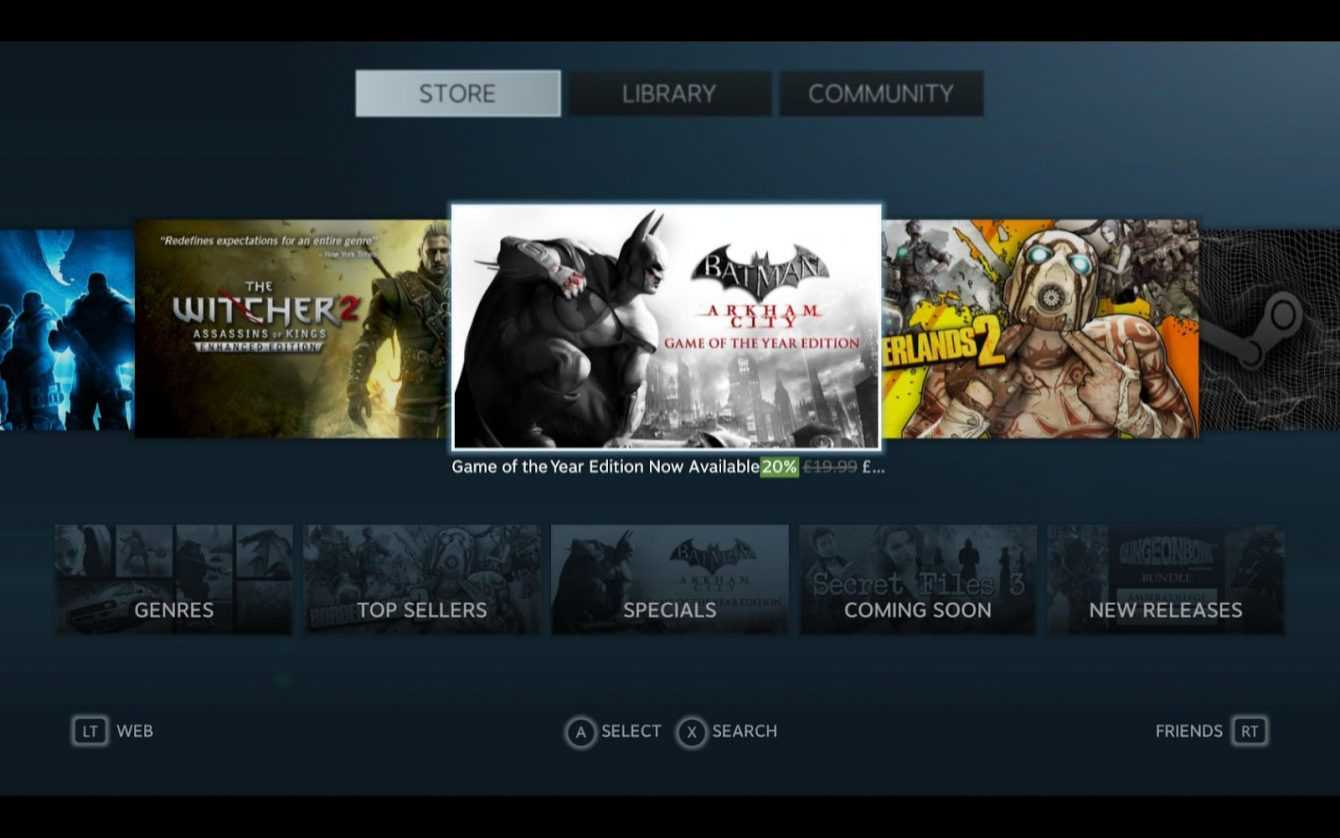 Steam: a feature will be replaced in view of the release of Deck