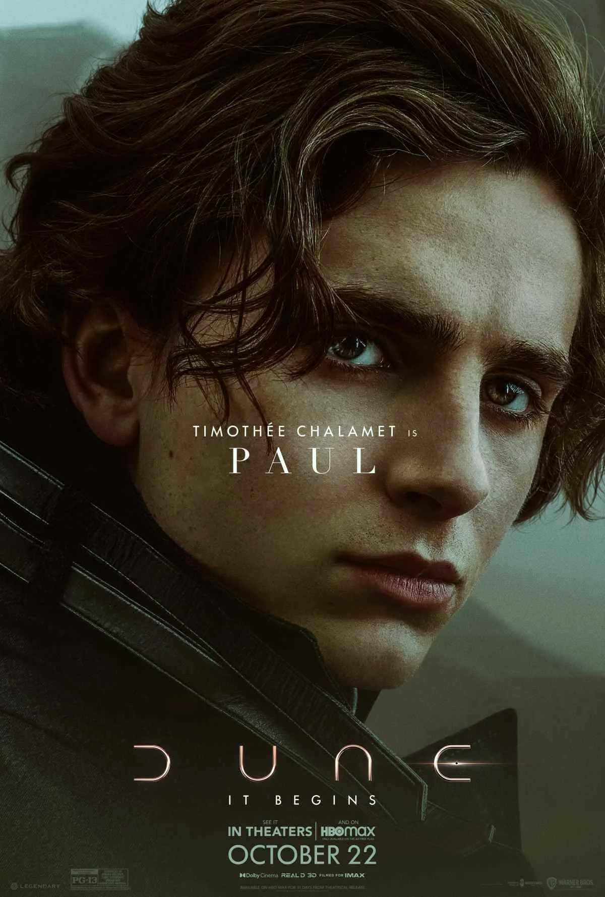 Dune: new banner and official character poster