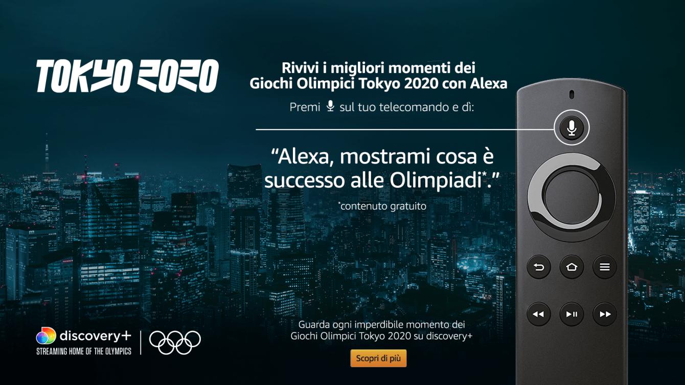Amazon Alexa e Fire TV: insieme per seguire le Olimpiadi Tokyo 2020
