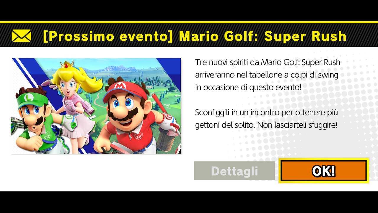 Super Smash Bros. Ultimate: Spiriti da Mario Golf Super Rush