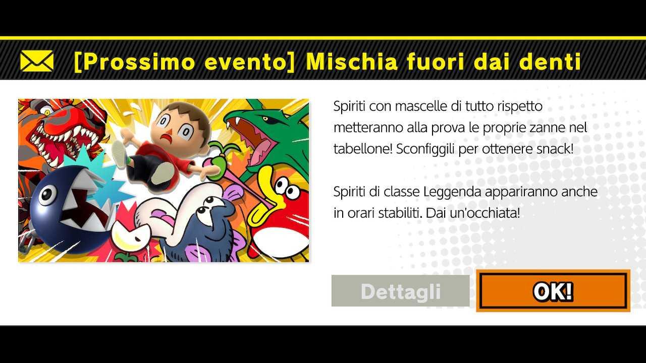 """Super Smash Bros Ultimate: evento del weekend... """"dentato"""""""