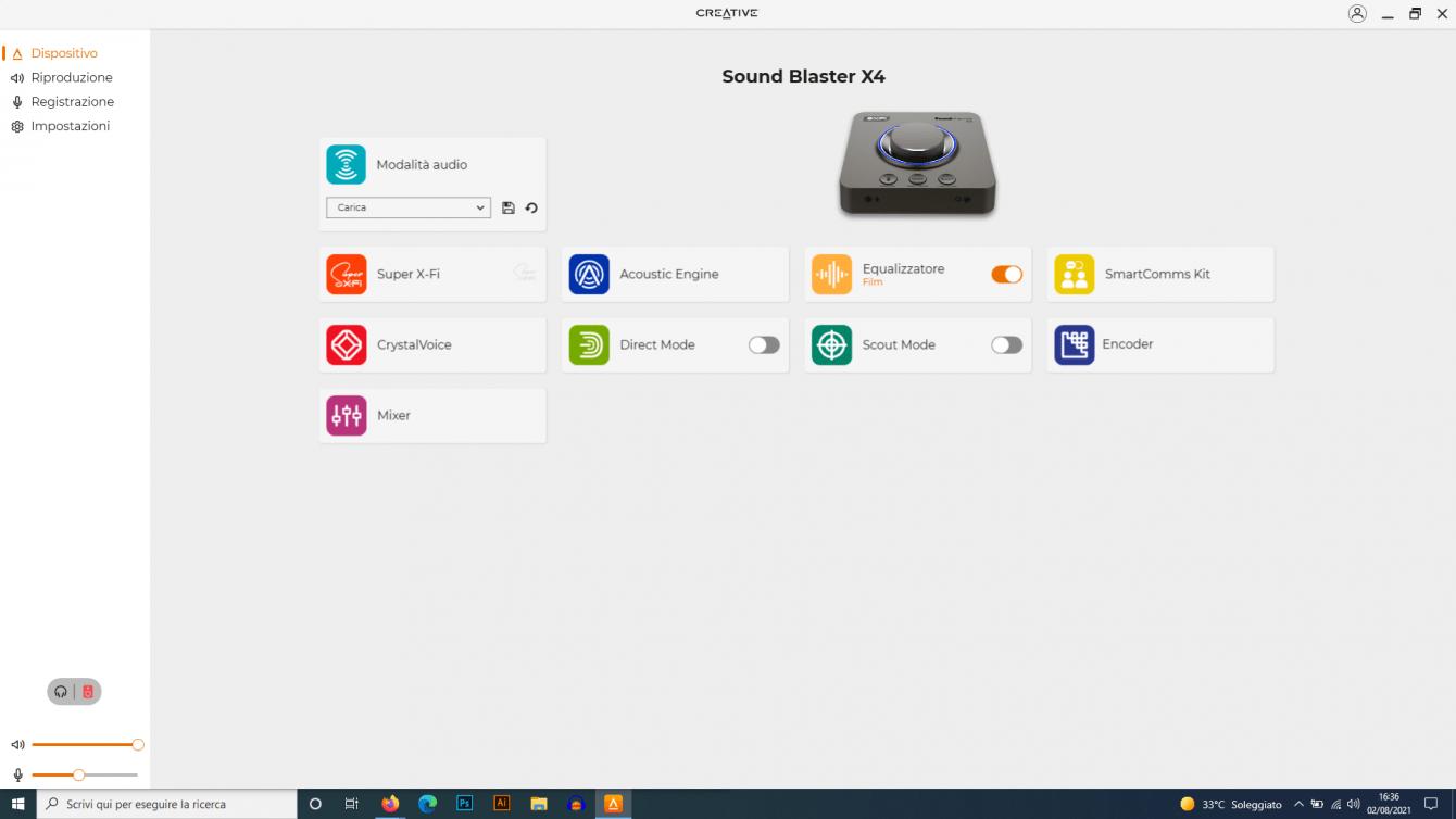 Recensione SoundBlaster X4: versatilità come parola d'ordine