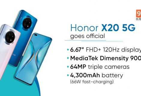 Honor X20 5G: annunciato ufficialmente