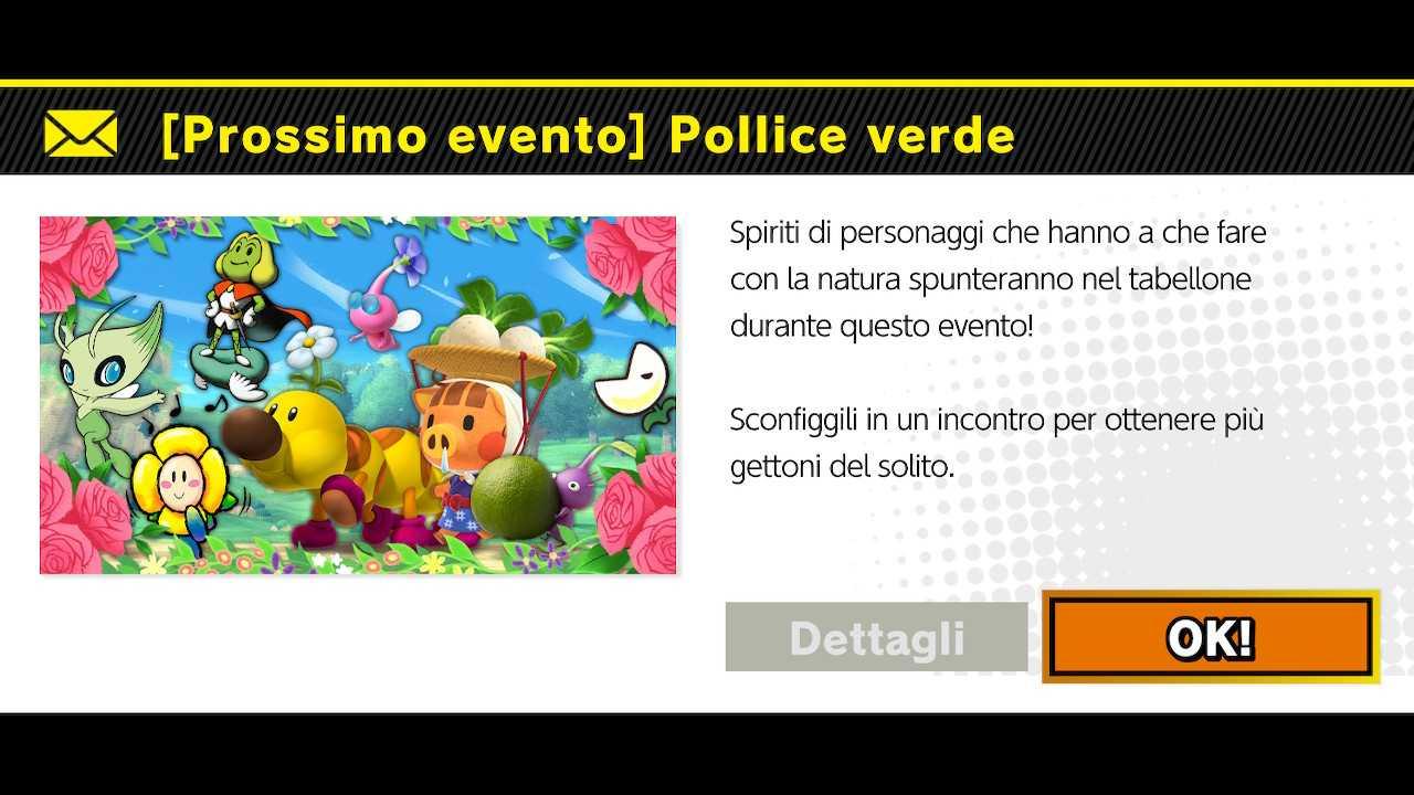 """Super Smash Bros. Ultimate: evento del weekend """"Pollice verde"""""""