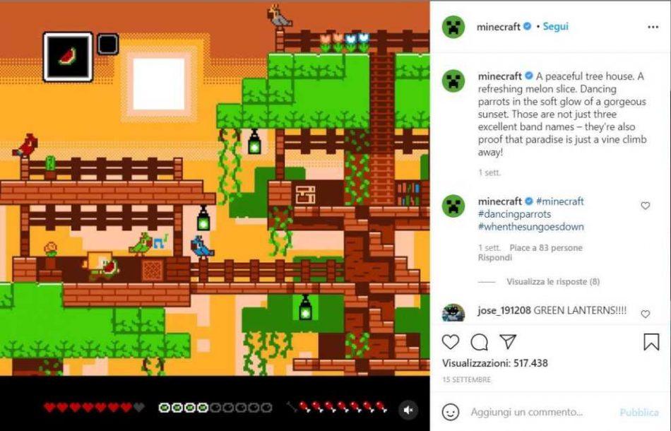 Mojang: possibili due progetti nuovi di Minecraft