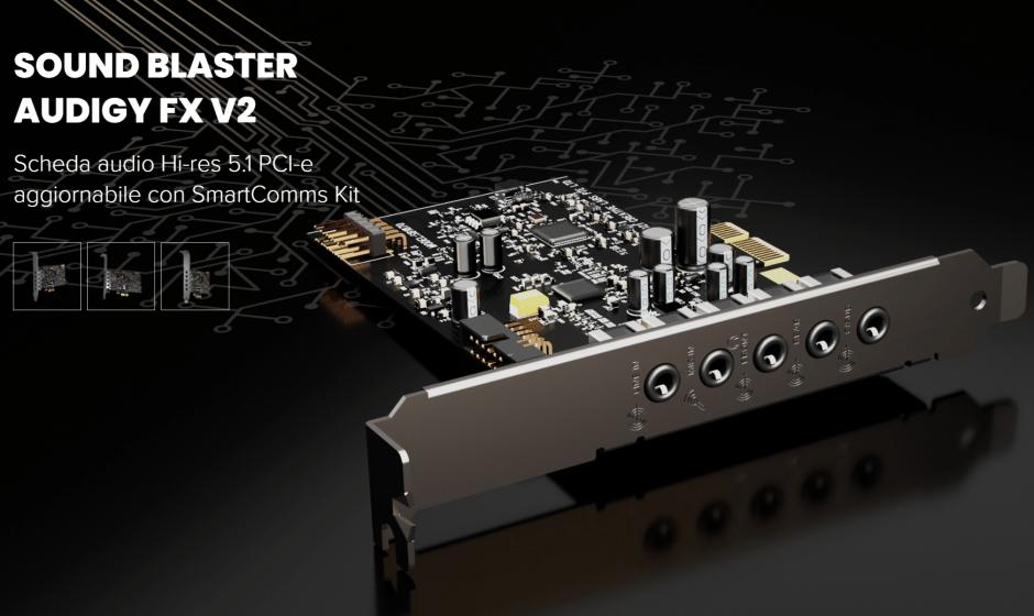 Sound Blaster Audigy Fx V2: il nuovo modello della rinomata scheda audio