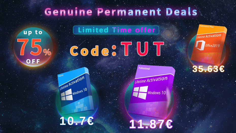 Keysbuff: licenza attivazione autentica e permanente Windows 10 a soli 11 euro