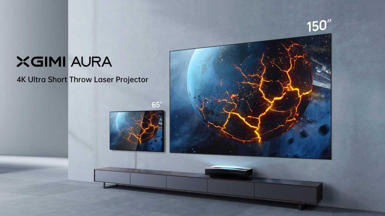 XGIMI Aura: nuovo proiettore laser 4K a tiro ultracorto
