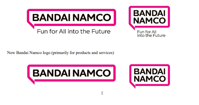 Bandai Namco: announced a new logo and a new purpose for the company