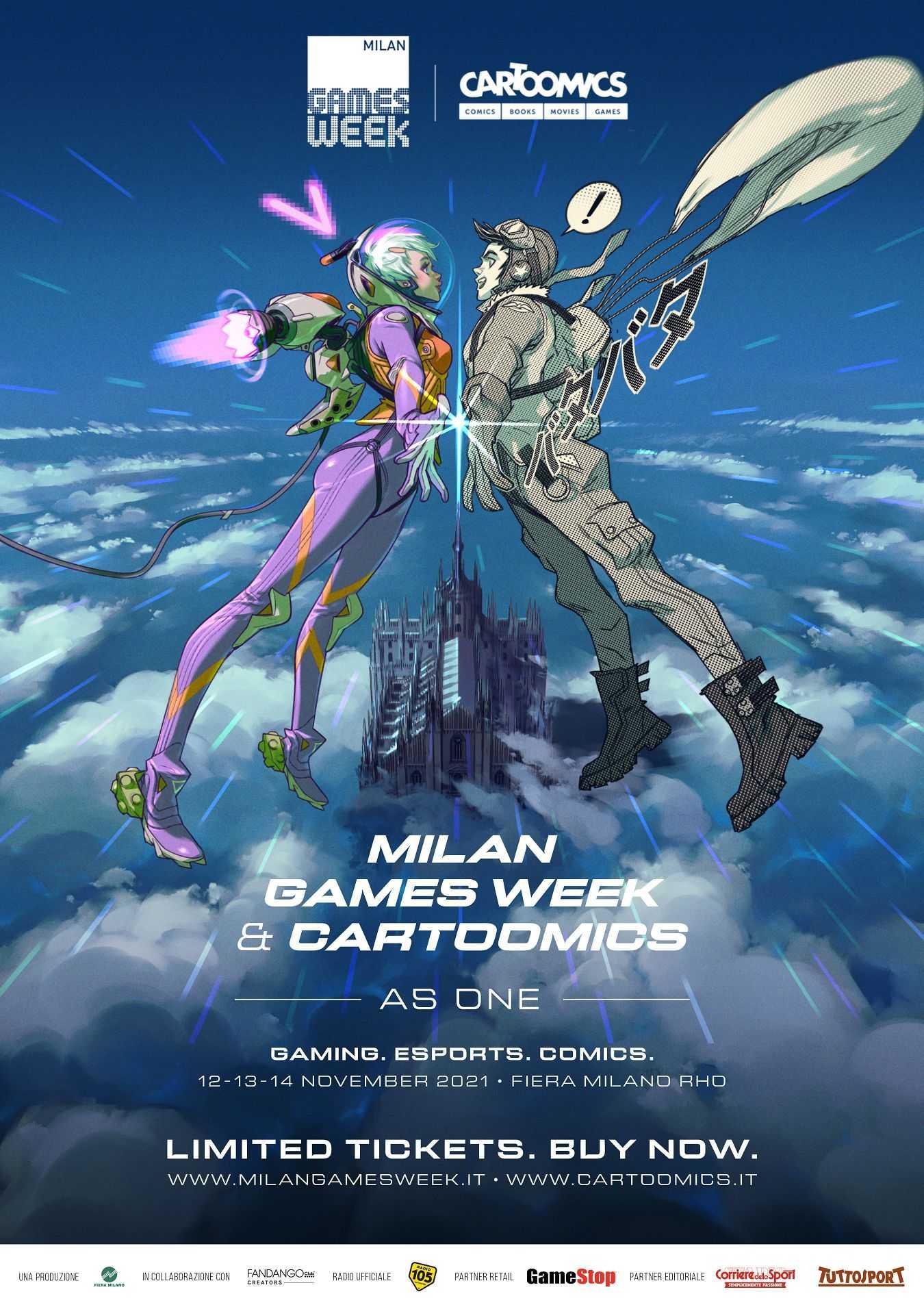 """Milan Games Week & Cartoomics """"as one"""": date e biglietti per l'evento unico!"""