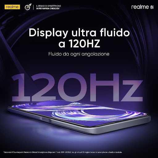 realme 8i: get the realme smartphone at 120hz